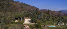 luxury villa with pool in the hills of lucca