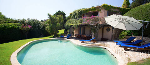 magnificent villa on the sea in porto cervo