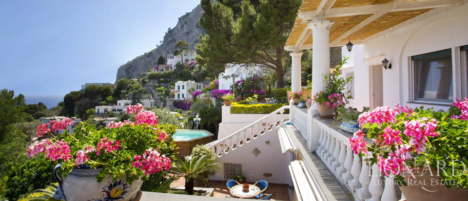 magnificent villa with panoramic view over capri