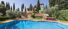 magnificent luxury villa with swimming pool in florence