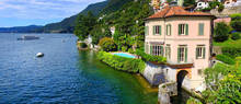 splendid luxury villa with swimming pool on lake como