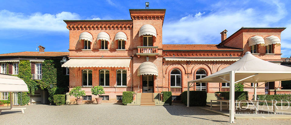magnificent historic villa for sale in piedmont