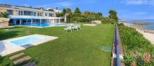 stunning villa with pool in front of lake garda