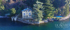 luxury villa for sale in front of lake como