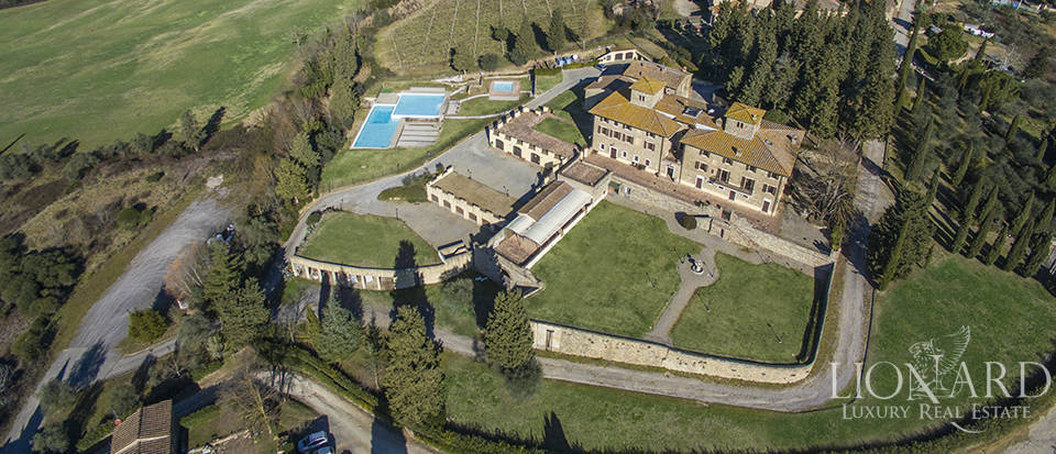 prestigious villa on the hills of chianti classico