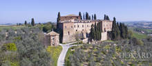 medieval castle in siena s countryside