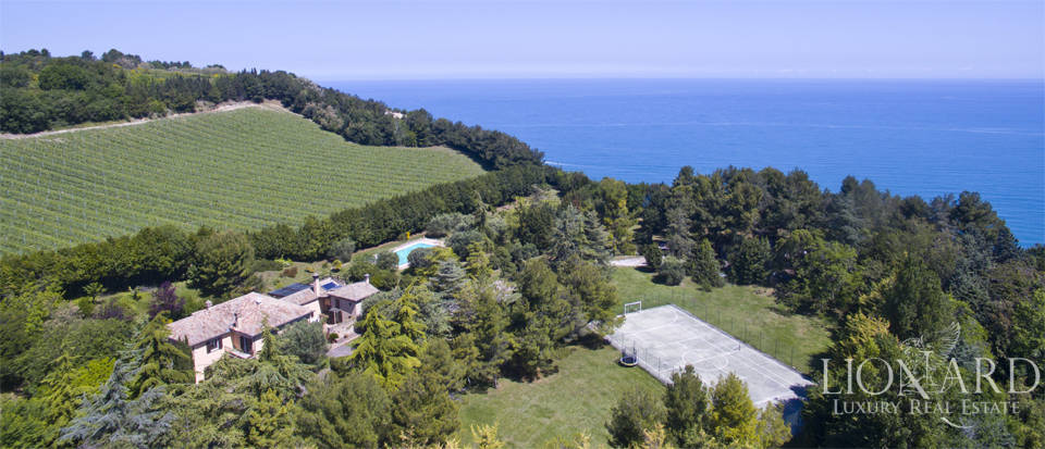 prestigious villa for sale by conero sea