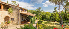 luxury farmstead for sale in arezzo countryside