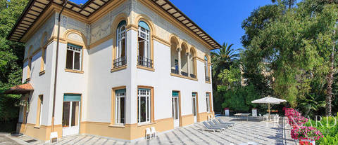 magnificent art-nouveau villa in santa margherita ligure
