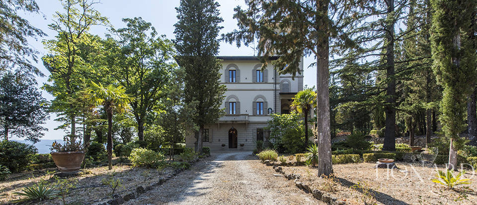 luxurious villa with turret for sale near florence