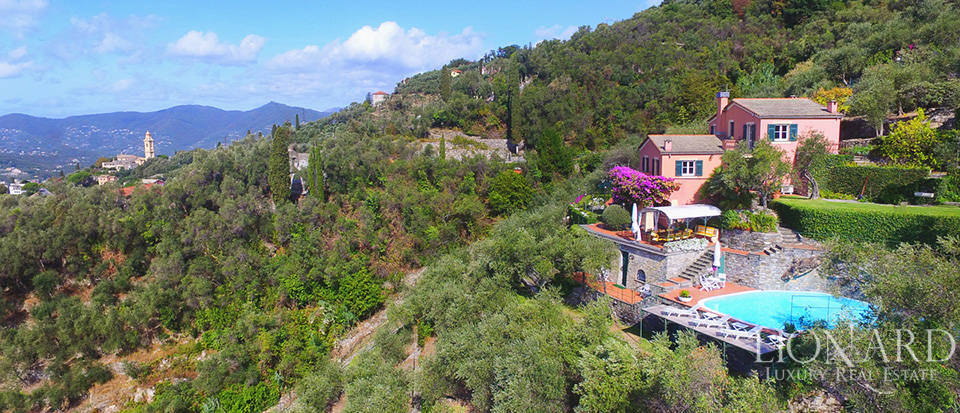 wonderful villa with a view of portofino for sale