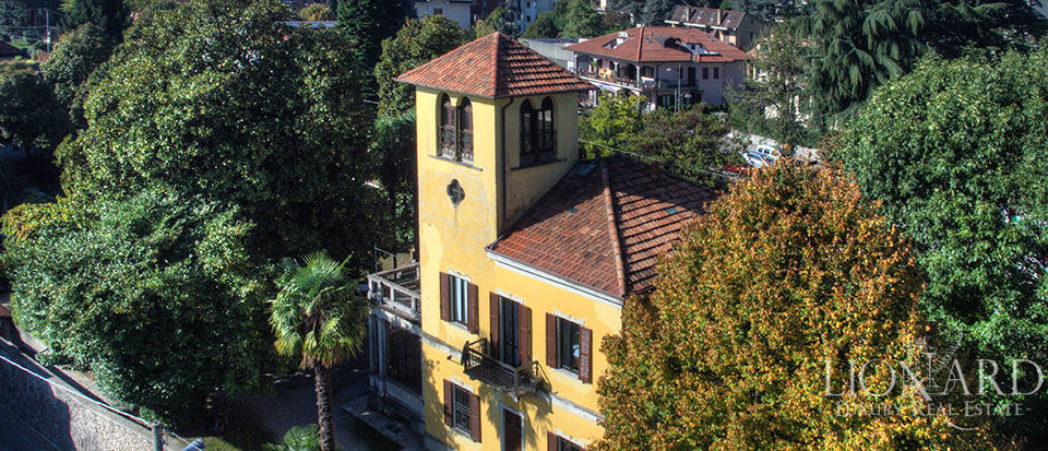historical villa for sale near como