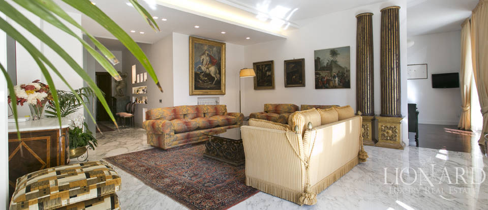 luxurious apartment for sale in rome's parioli area