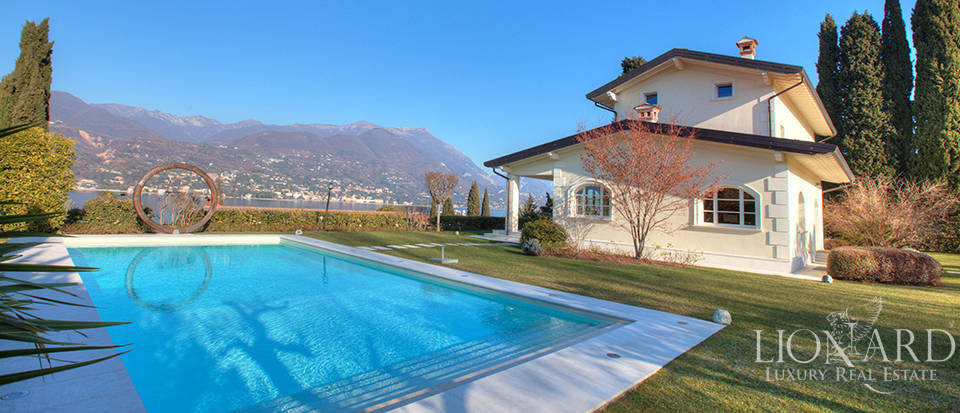 stunning villa with lake view in front of lake garda