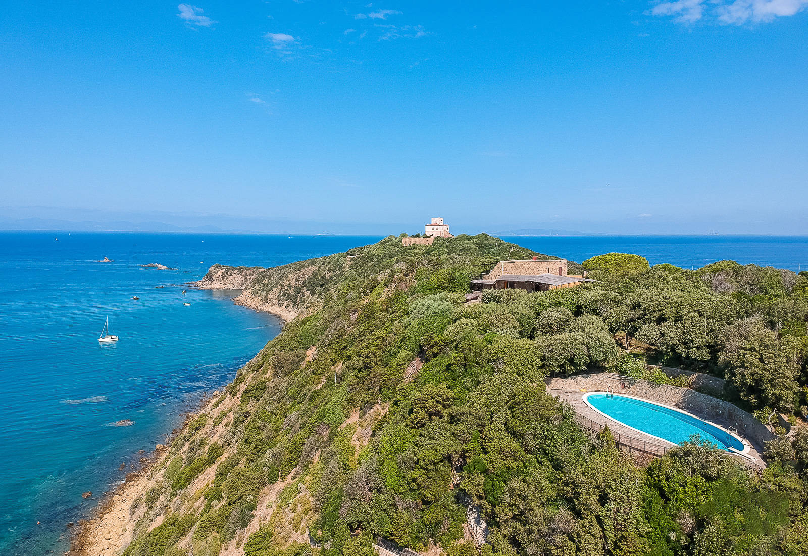 fantastic villa with sea front terraces for sale in punta ala