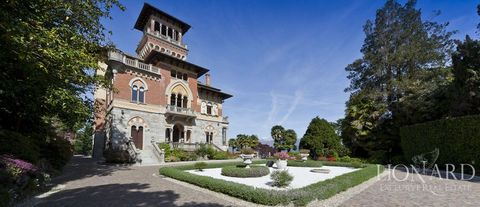 luxury villa for sale in lake maggiore with view of the lake