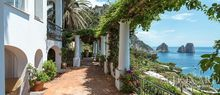 villa in capri with views of the faraglioni