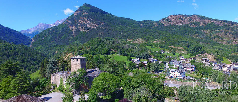 Spectacular ancient castle in the Aosta Valley