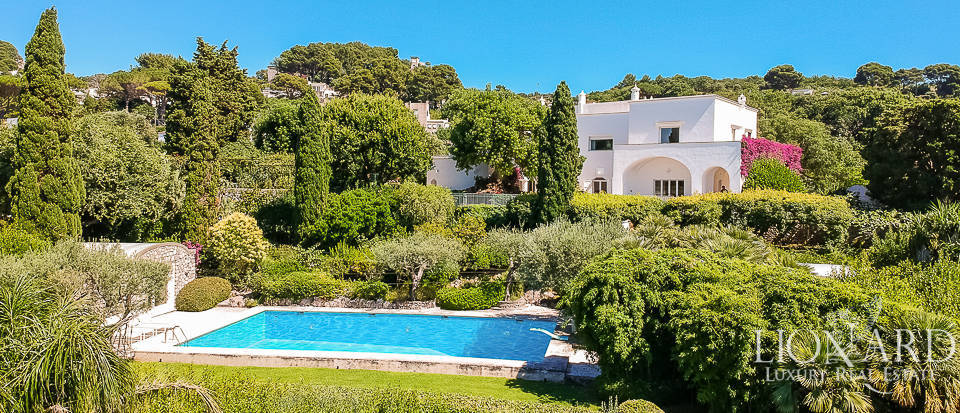 Magnificent villa where Totò stayed for sale in Capri